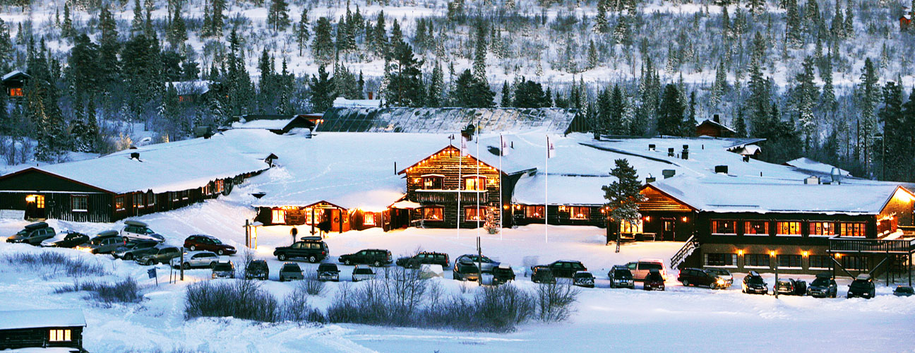 Vinterbild på Storhogna Högfjällshotell & Spa