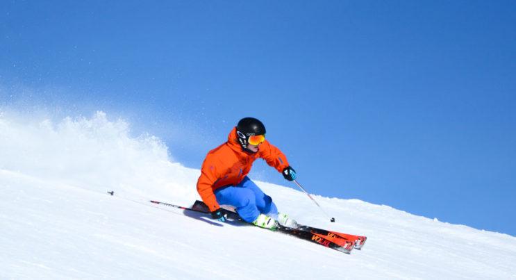 alpin skidåkare i Vemdalen